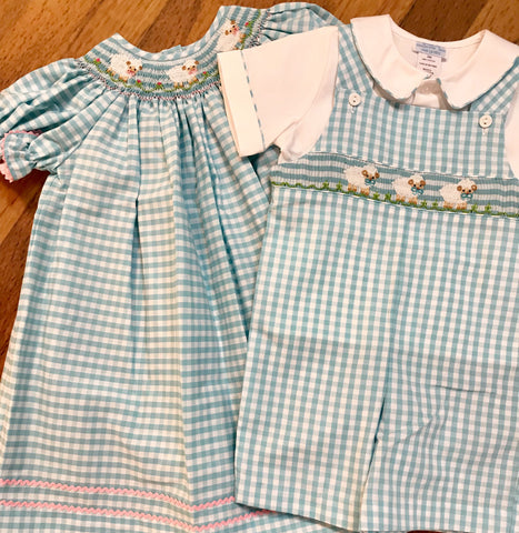 Lambs Shortall w/Shirt Month Collection Bebe