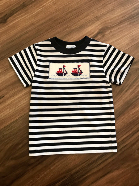 Nautical Smocked S/S Tee Vive La Fete