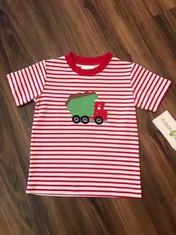 Construction Applique S/S Tee Zuccini Kids