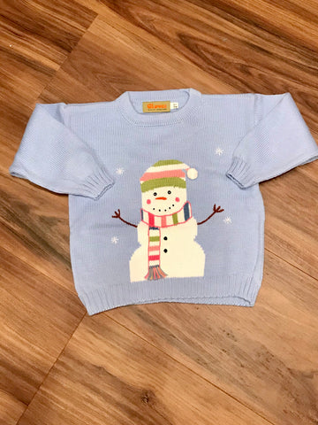 Snowman Child Sweater Claver Sweaters