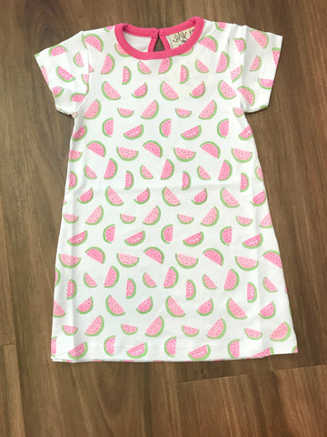Watermelon Print Aline Dress Luigi Kids
