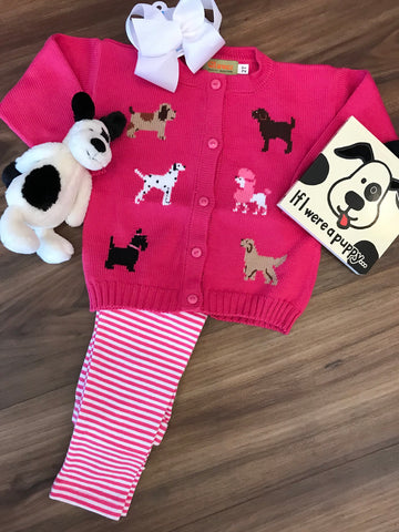 Puppy Cardigan Child Claver Sweaters