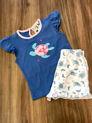 Sea Turtle Shorts Set Luigi Kids