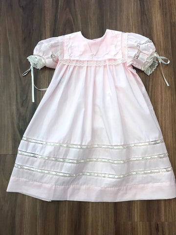 Elle Pink Heirloom Dress Lullaby Set