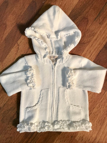 Hooded Sweater With Ruffle 2h Handknits