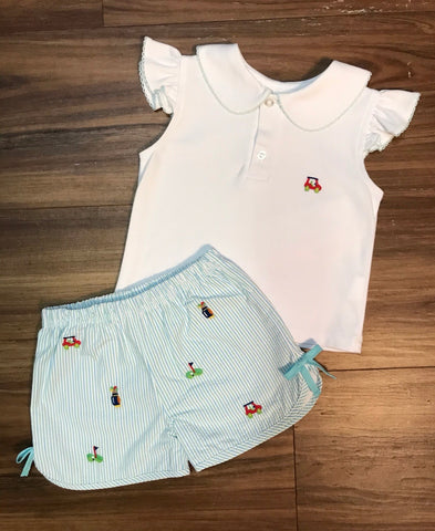 Girl Golf Shorts Set Zuccini Kids