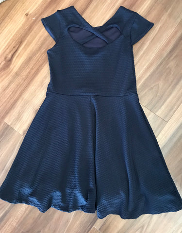 Navy Textured Knit Dress Florence Eiseman