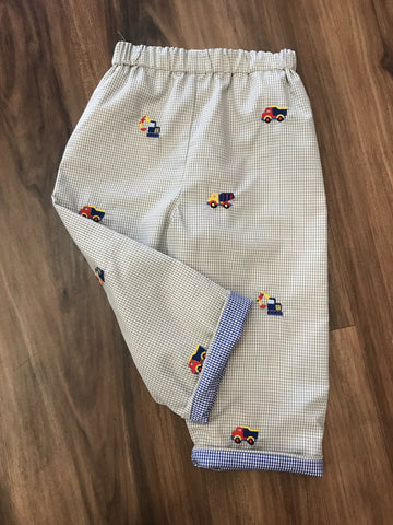 Construction Embroidered Pants Zuccini