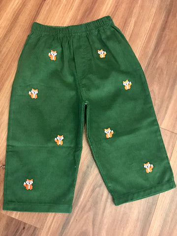 Fox Emb. Pull on Pants Little English