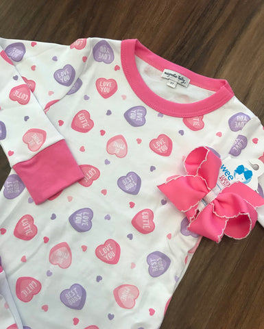 Lil' Sweetheart Print Long Pjs Magnolia Baby