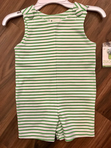 Stripe Knit Shortall Zuccini