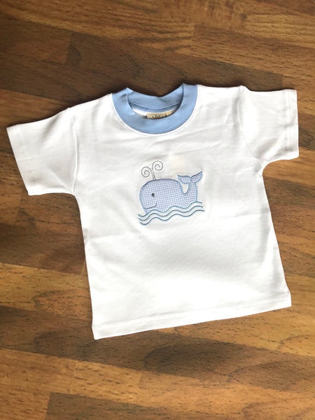 Whale Applique Tee Luigi Kids