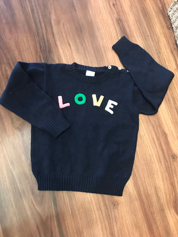 Love Applique Pullover Sweater Bella Bliss