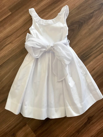 Doeskin White Dress w/Sash