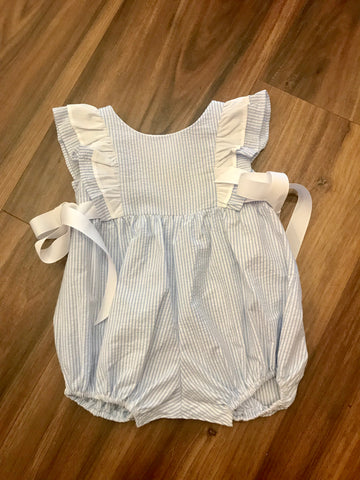 Blue Stripe Pinafore Bubble Funtasia Too
