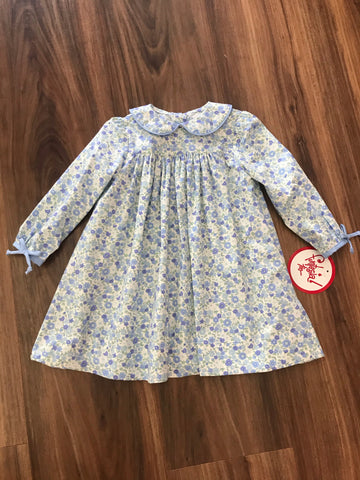 Blue Floral L/S Dress Funtasia Too