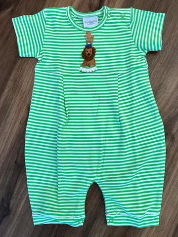Lion on Throne Short Romper Squiggles