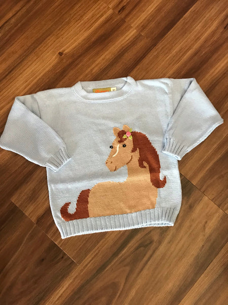 Horse w/Flower Sweater Claver Sweaters