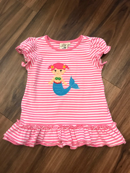 Mermaid Ruffle Bottom Top Luigi Kids
