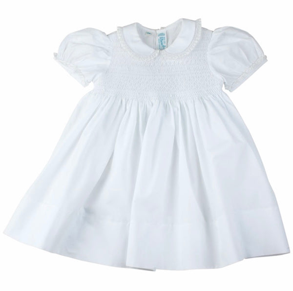 Smocked Dress with Lace Trim Feltman Brothers