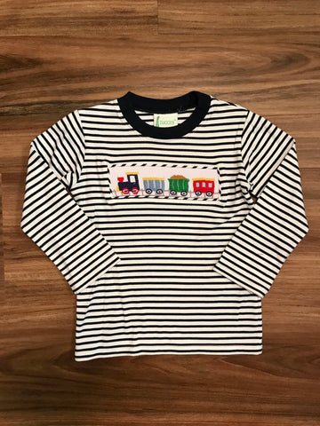 Train Smocked L/S Tee Zuccini