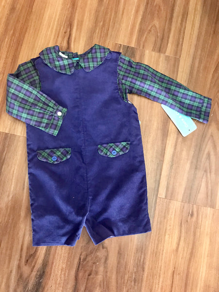 Blackwatch Plaid Shortall w/Shirt Claire and Charlie