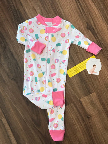 Fruit Pops Zip Pjs Magnolia Baby