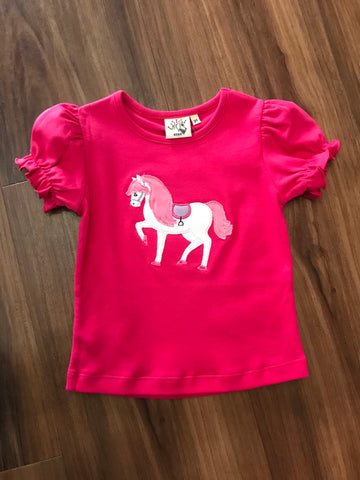 Horse Applique S/S Tee Luigi Kids