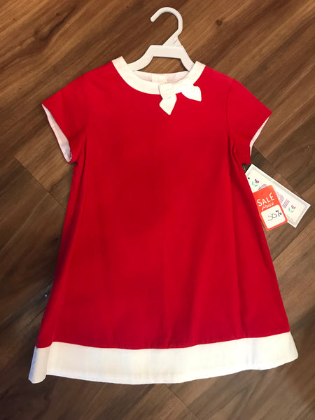 Red Corduroy A-Line Dress Simi
