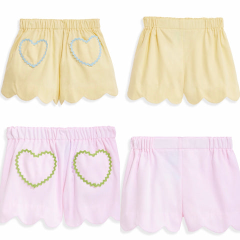 Heart Pocket Pique Shorts Bella Bliss