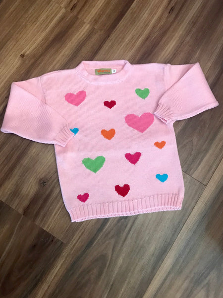 Hearts Sweater Claver Sweaters