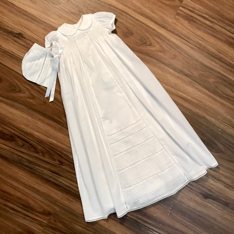 Romance Cotton Batiste Christening Gown