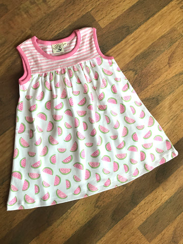 Watermelon Print Sleeveless Dress Luigi Kids