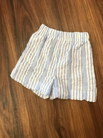 Bahama Blue Seersucker Retro Boy Short Peggy Green