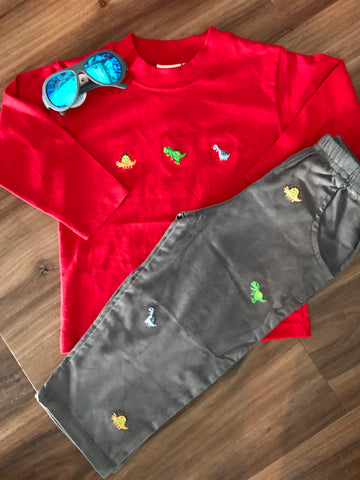Dino Emb Toddler Pants Luigi Kids