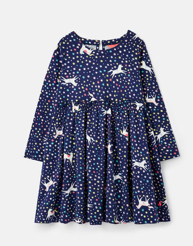 Hampton Navy Unicorns Dress by Joules