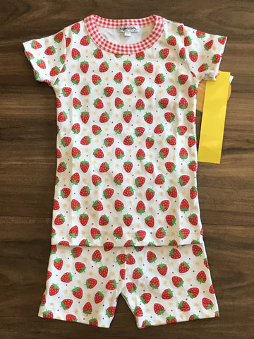 Fresh Strawberries Printed Short Pjs Magnolia Baby