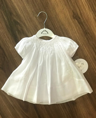 White Smocked Bishop w/Panty Sarah Louise