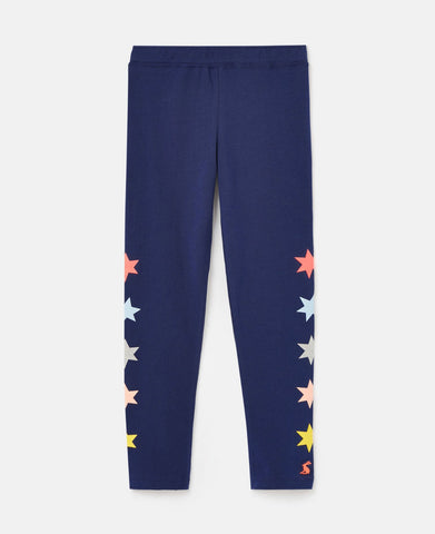 Emilia Luxe Navy Stars Leggings by Joules