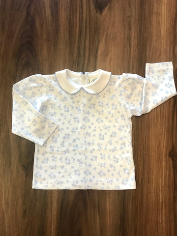 Flower Print Peter Pan Collar L/S Blouse Luigi Kids