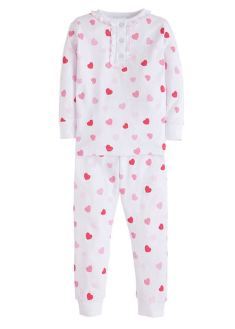 Hearts Girls Printed Jammies Little English