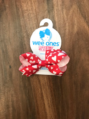 Heart Print Mini Bow Wee Ones