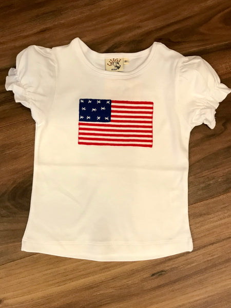 Flag Girls Applique Tee Luigi Kids