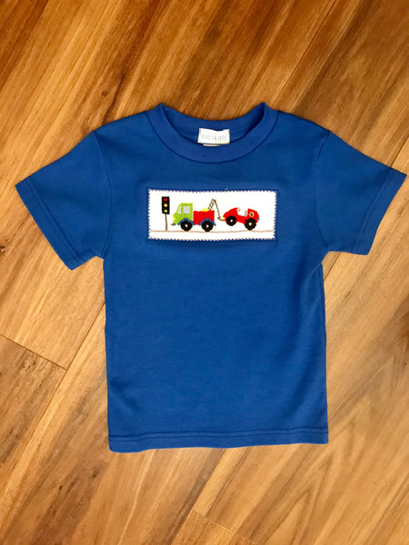 Towing Truck SS Smocked Tee Vive La Fete