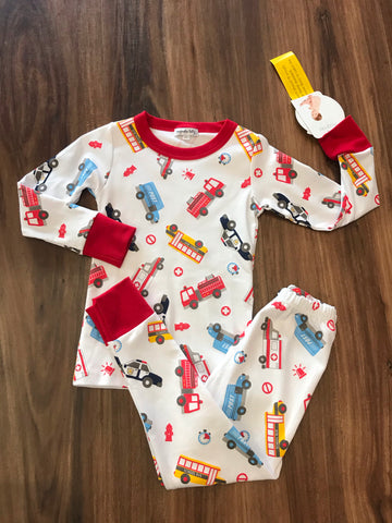 Around the Town Long Pjs Magnolia Baby