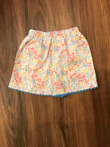 Churchill Floral Two Pocket Shorts Peggy Green