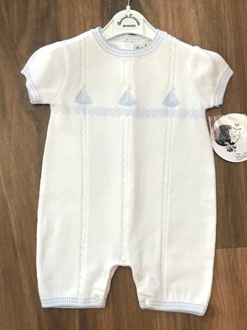 Sailboat Knit Romper Sarah Louise