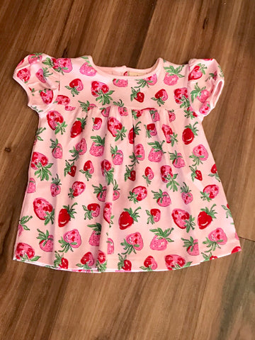 Strawberry Print S/S Swing Top Luigi Kids