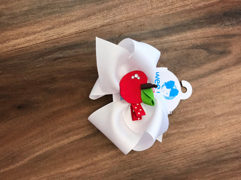 Apple Hair Bow Bows For Belles