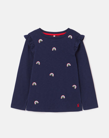 Joya Navy Icon L/S Tee by Joules